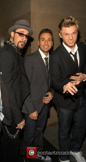 AJ McLean, Howie Dorough and Nick Carter Backstreet Boys celebrate the release of their fifth studio album 'Unbreakable' at the...