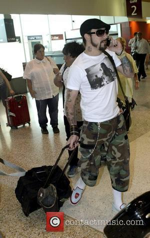 A. J. McLean The Backstreet Boys arriving at Sydney Airport Sydney, Australia. 21.02.08