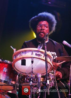 Questlove of The Roots performing performing live at Erykah Badu's 'New Amerykah Tour' at Radio City Music Hall New York...