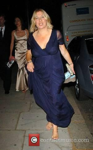 Victoria Wood leaving the BAFTA after party which was held at the Museum of Natural History London, England - 20.05.07
