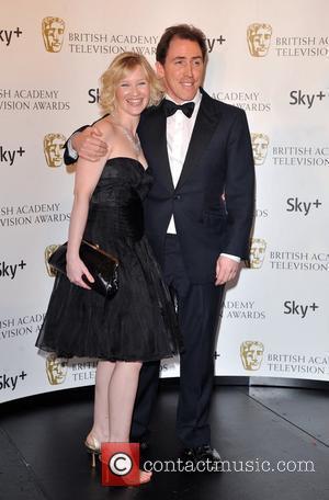 Joanna Page and Rob Brydon British Academy Television Awards (BAFTA) at the London Palladium - Winner Board London, England -...