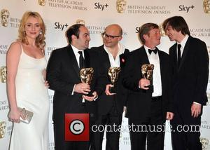 Keeley Hawes, guest, Harry Hill and Nicholas Hoult