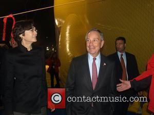 Diana Taylor and Mayor Michael R Bloomberg