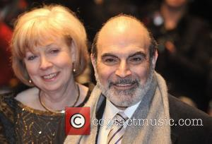 David Suchet and guest UK premiere of 'The Bank Job' held at West End Odeon, Leicester Square - Arrivals London,...
