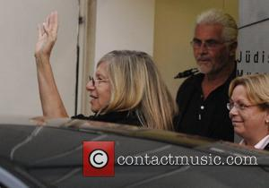 Barbra Streisand and James Brolin leave the Jewish Museum and head for a dinner at Paris Moskau Restraurant Berlin, Germany...