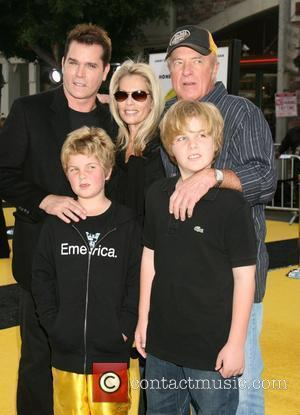 Ray Liotta, Catherine Hickland, James Caan and Sons Los Angeles film premiere of 'Bee Movie' held at Mann Village Theater...