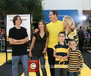 Patrick Warburton and Family Los Angeles film premiere of 'Bee Movie' held at Mann Village Theater - Arrivals Westwood, California...