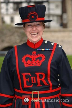 The first ever female Beefeater, Yeoman Warder Moira Cameron, starts her first day of duty in uniform at the Tower...