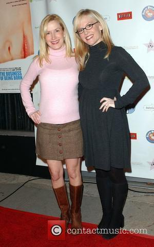 Angela Kinsey and Rachel Harris
