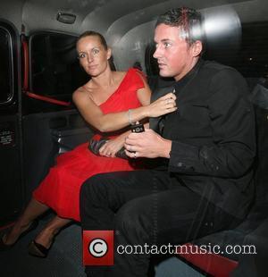 Davinia Taylor and husband David Gardner Belvedere Vodka Jagger Dagger launch party, to celebrate an ice dagger that Jade Jagger...