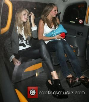 Keeley Hazell and a friend Belvedere Vodka Jagger Dagger launch party, to celebrate an ice dagger that Jade Jagger has...