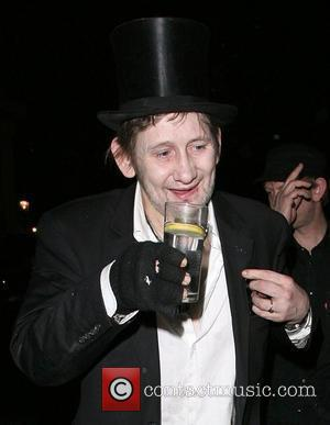 Shane MacGowan of The Pogues Belvedere Vodka Jagger Dagger launch party, to celebrate an ice dagger that Jade Jagger has...