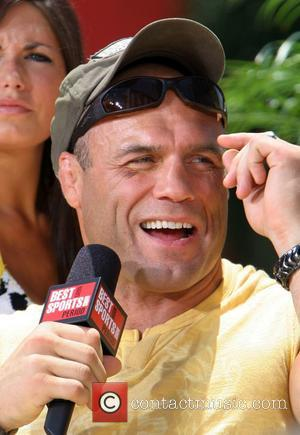 Randy Couture filming 'The Best Damn Sports Show Period' at Hooters Hotel and Casino Las Vegas, Nevada - 13.07.07