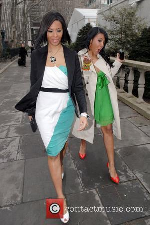 Vanessa Simmons, Angela Simmons Mercedes Benz Fashion Week Fall 2008 - Betsey Johnson - Outside New York City, USA -...