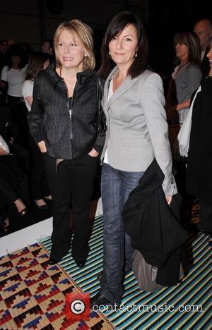Davina Mccall, Jennifer Saunders and London Fashion Week