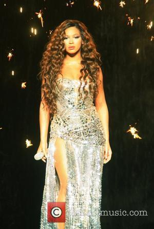 Beyonce Knowles performing live in concert on 'The Beyonce Experience' world tour 2007, held at Madison Square Garden New York...