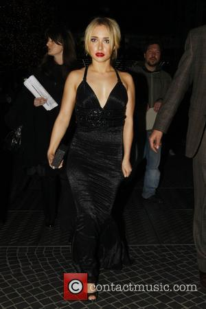 Hayden Panettiere on her way to dinner at Lutter & Wegner restaurant at Potsdamer Platz square shortly before the premiere...