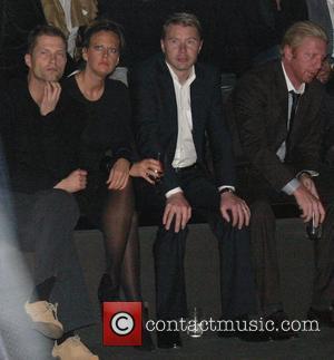 Til Schweiger, Barbara Schoeneberger, Mika Haekkinen, Boris Becker Mercedes Benz Fashion Week Berlin 2008 - Autumn/Winter Hugo by Hugo Boss...