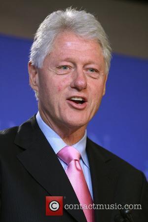 Bill Clinton and David Letterman