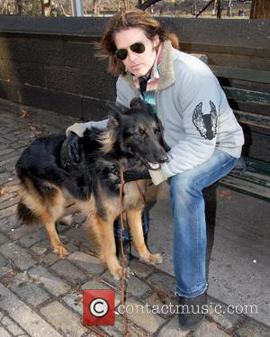 Billy Ray Cyrus out walking his dog in Midtown New York City, USA - 31.12.07