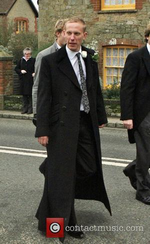 Laurence Fox arriving at his wedding to Billie Piper at the Parish Church of St. Mary in Easebourne West Sussex,...