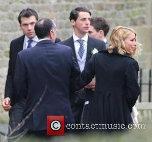 Billie Piper arriving at her wedding to Laurence Fox at the Parish Church of St. Mary in Easebourne West Sussex,...