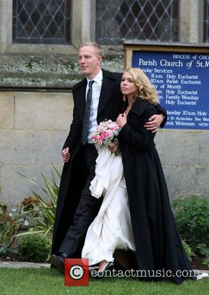 Billie Piper leaving and Laurence Fox leaving their wedding after saying 'I Do! ' to at the Parish Church of...