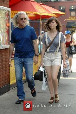 Billy Connolly and a friend stroll through the West Village New York City, USA-02.06.07