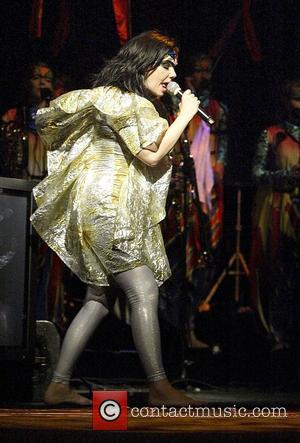 Bjork  performs a special outdoor concert at Sydney Opera House as part of the annual Sydney Festival. Sydney, Australia....