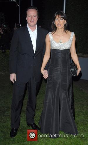 David Cameron and Samantha Cameron Conservative Party Black and White Ball held at Battersea Evolution - Arrivals London, England -...