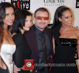 Padma Lakshmi and Bono