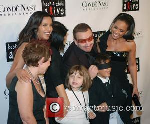 Padma Lakshmi, Alicia Keys and Bono