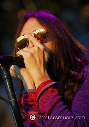 Chris Robinson of The Black Crowes plays the Voodoo stage at the 'Voodoo Music Experience 2007' New Orleans, LA -...