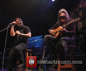 Brent Smith and Jason Todd (Shinedown) Dimebag Darrell's Blacktooth Grin Party (following his Hollywood RockWalk Induction) at House of Blues...