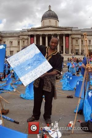 Blue Sky Day - launch atTrafalgar Square Online travel company Expedia and the National Gallery collaborate on a project encouraging...