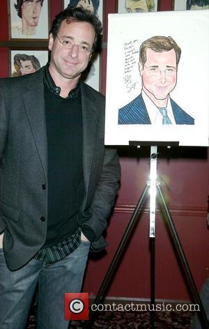 Bob Saget is honoured with a caricature at Sardi's, a favourite Broadway restaurant. New York City, USA -04.01.08