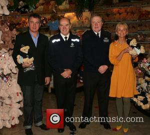 Shane Richie and Lisa Maxwell Bobby Bear Launch at Hamleys in aid of children who are victims of crime London,...