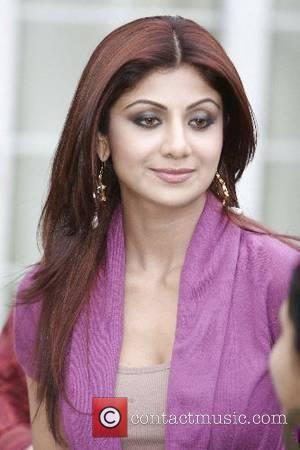 Shilpa Shetty Bollywood stars visit the Thiaray family and had tea at the house on Woodhall Park Avenue as part...