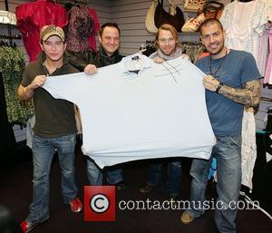 Stephen Gately, Keith Duffy, Ronan Keating and Shane Lynch