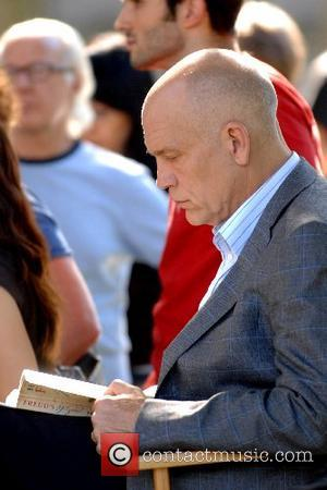 John Malkovich on the film set for ' Burn After Reading ' in Manhattan New York City, USA - 23.09.07