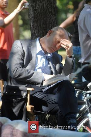 John Malkovich on the movie set of 'Burn After Reading' filmed at Riverside Park New York City, USA - 23.09.07