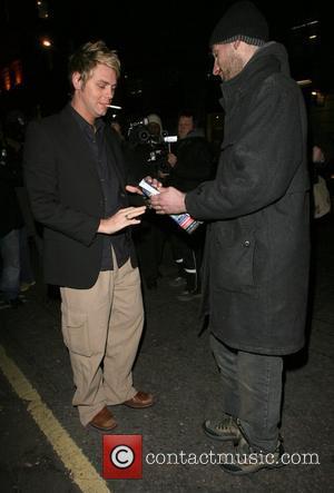 Brian McFadden leaving Nobu Berkeley restaurant at 2am with his sister Susan McFadden, saying they were going gambling! London, England...