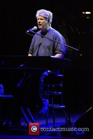 Brian Wilson of the Beach Boys performs in a special show for the press with his ten piece band, prior...