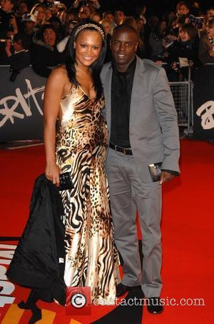 Trevor Nelson and guest at the Brit Awards 2008