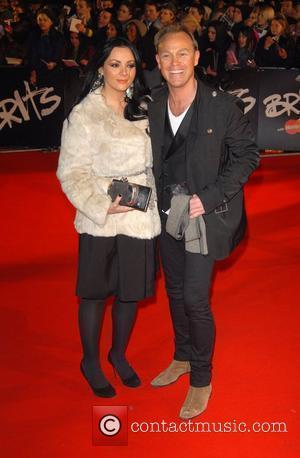 Martine Mccutcheon, Jason Donavon The Brit Awards 2008 Earls Court , London, England.