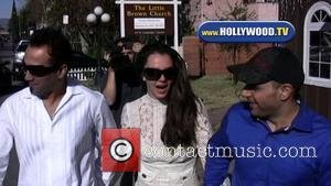Britney Spears, Her Boyfriend Adnan Ghalib, Sam Lutfi Made A Pit Stop, Lit A Candle At The Little Brown Church In The San Fernando Valley and After Abruptly Leaving Her Scheduled Custody Hearing At The Los Angeles Superior Court. They Then Left For Lunch At Gaucho Grill In Studio City.
