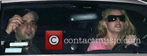 Britney Spears leaving Four Seasons Hotel the same day a judge orders her not to drive with kids in the...