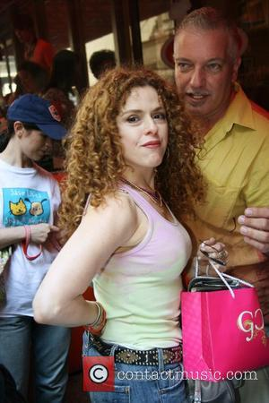 Bernadette Peters 9th Annual Broadway Barks at Shubert Alley, a star-studded dog and cat adopt-a-thon benefiting New York City animal...
