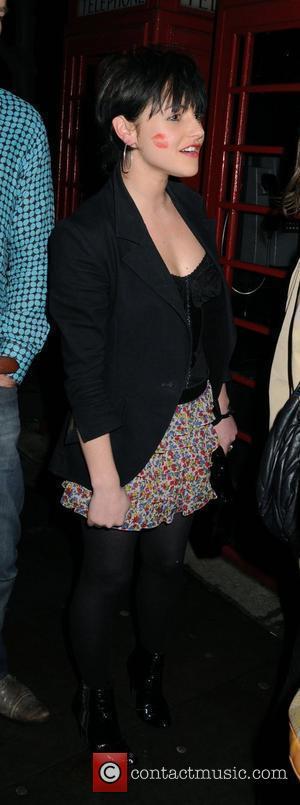 Jaime Winstone leaving Bungalow 8 nightclub with a huge lipstick mark on her cheek London, England - 13.03.08