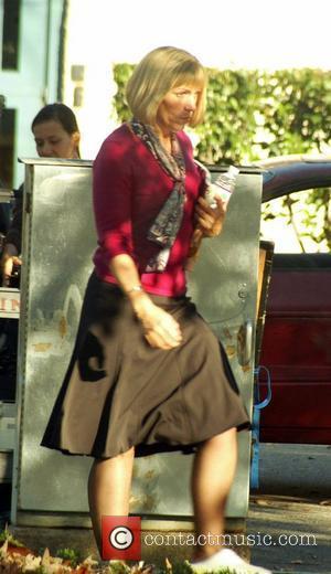 Frances McDormand on the set of
